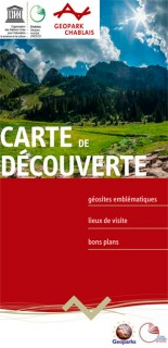 Carte de découverte : sites du Géopark Chablais Unesco