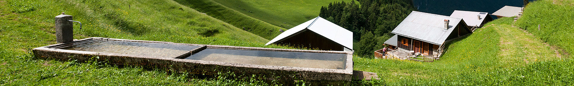 Alpage et panorama de Tréchauffé
