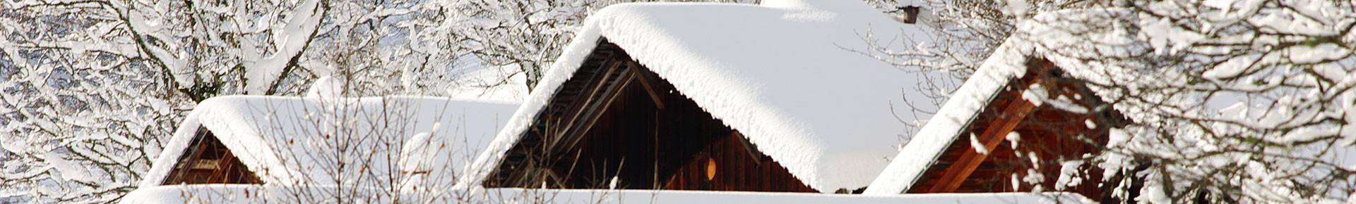 Chalets sous la neige, Vallée d'Aulps