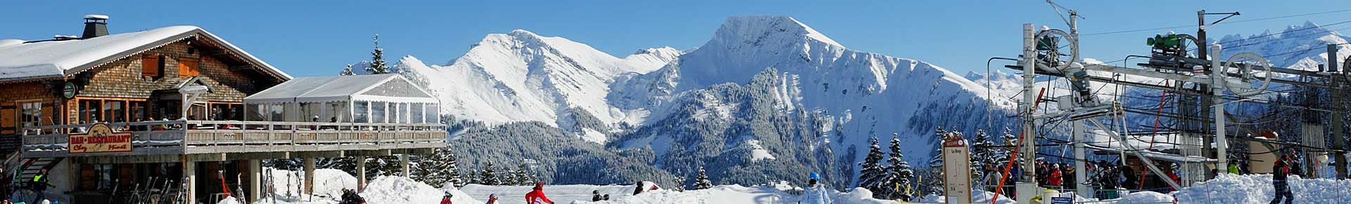 Domaine skiable St Jean d'Aulps Roc d'Enfer