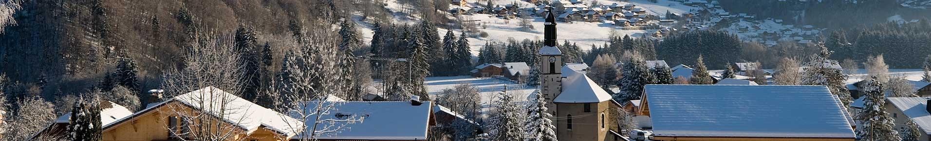 Villages de la Vallée d'Aulps en hiver