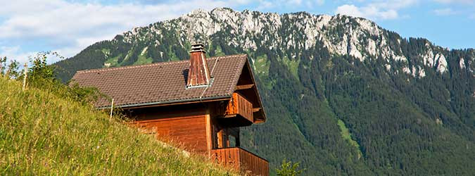 Chalets with hotel services