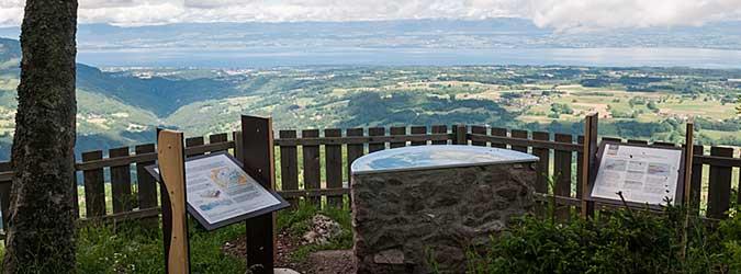Le Panorama : site emblématique du Geopark Chablais