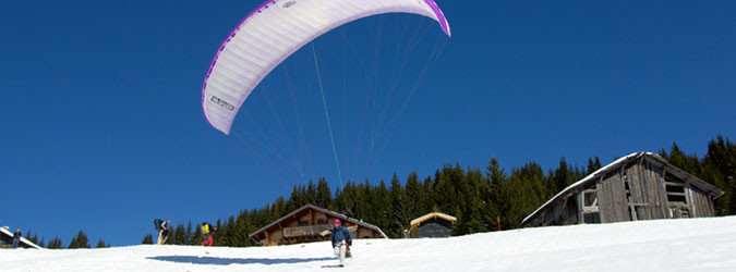 Parapente, Speed riding