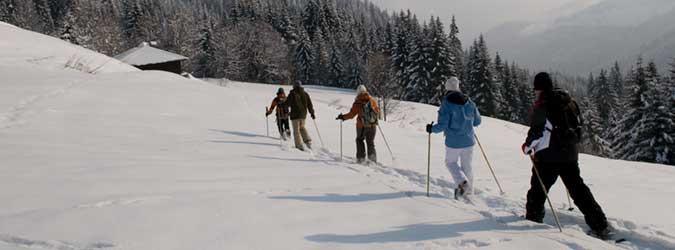Snowshoe trekking