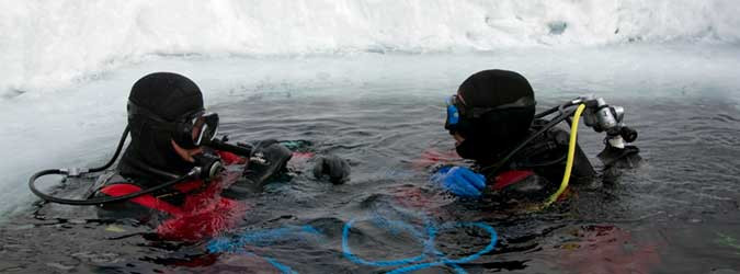 Under-ice diving