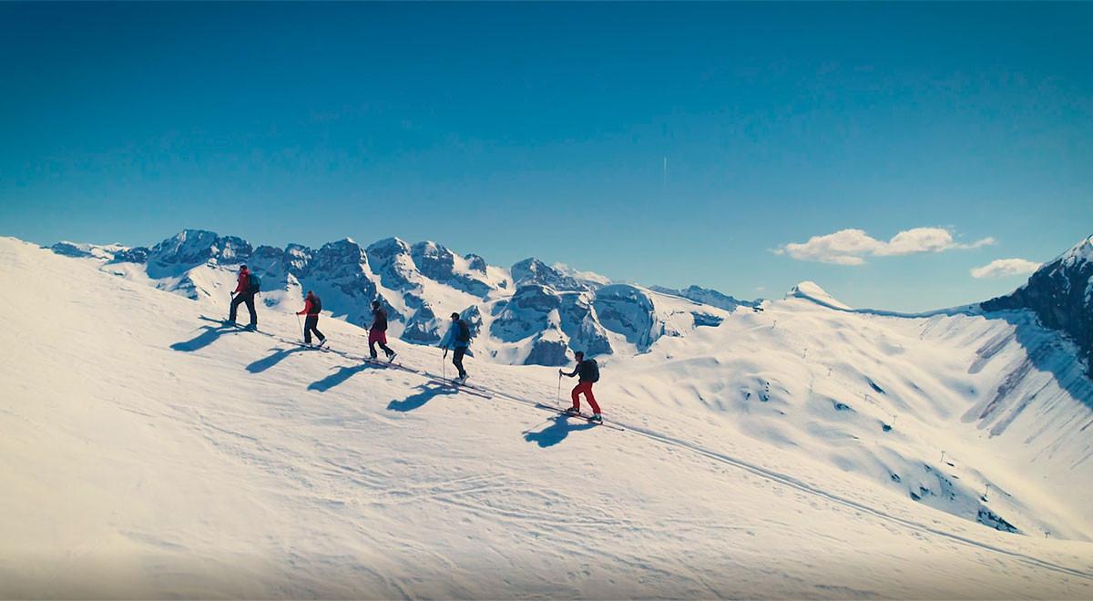 Vidéo la Vallée d'Aulps en hiver
