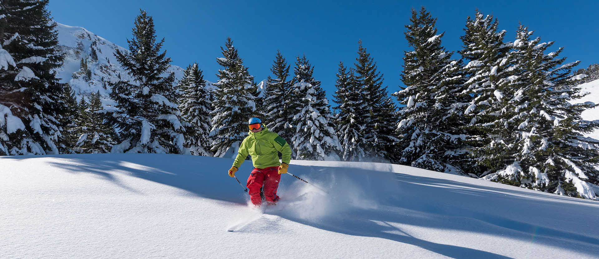 Ski grandeur nature