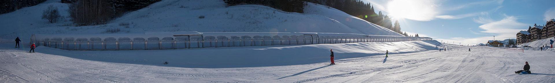 Espace ski débutants du Col du Corbier