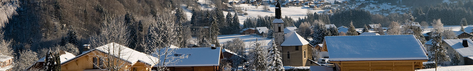 Le village d'Essert-Romand en hiver
