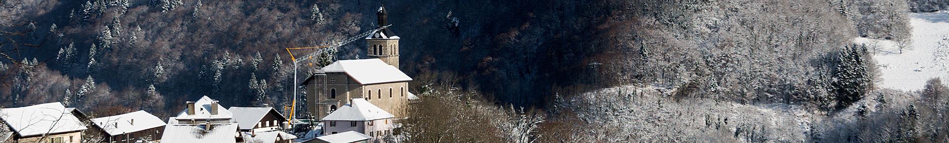 Le village de La Baume en hiver