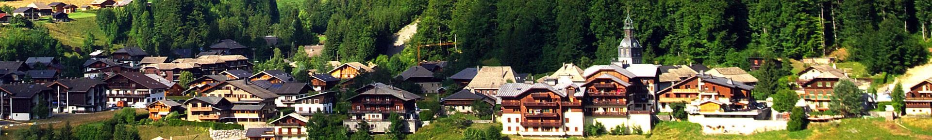 Le village de Montriond en été