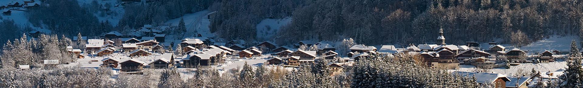Le village de Montriond en hiver
