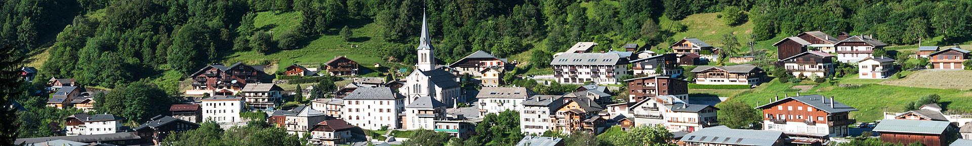 Le village de Saint Jean d'Aulps en été