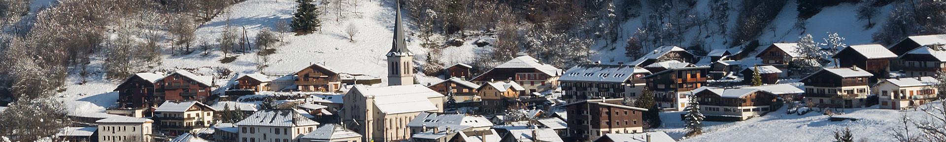 Le village de Saint Jean d'Aulps en hiver