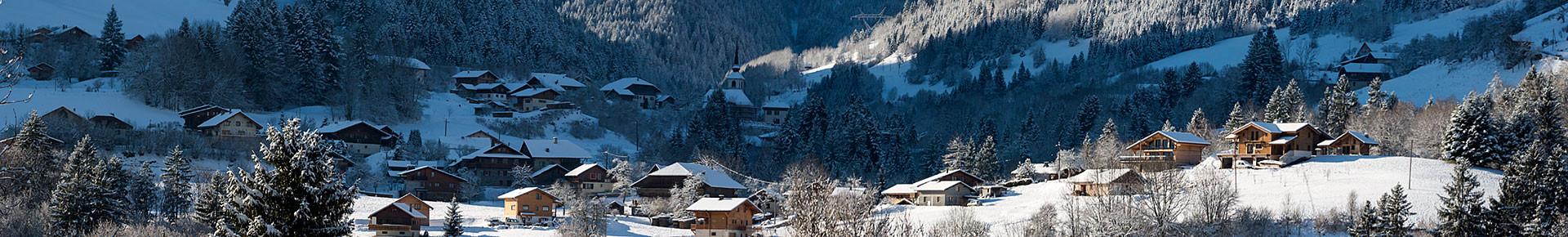 Le village de Seytroux en hiver
