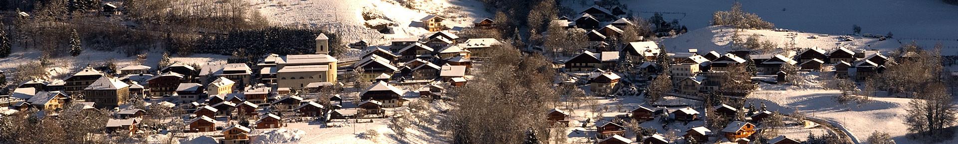 Le village du Biot en hiver