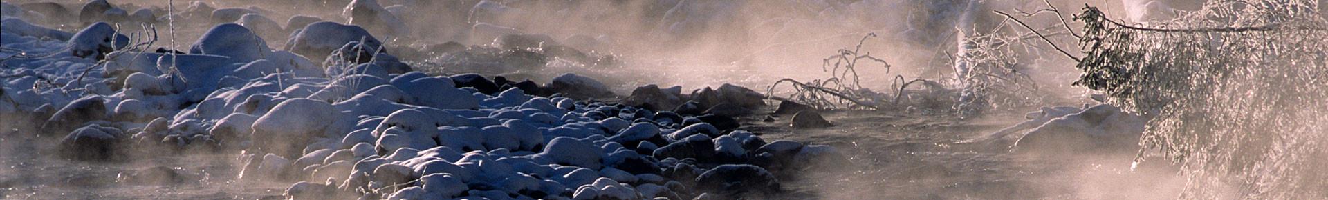 Les bords de Dranse en hiver