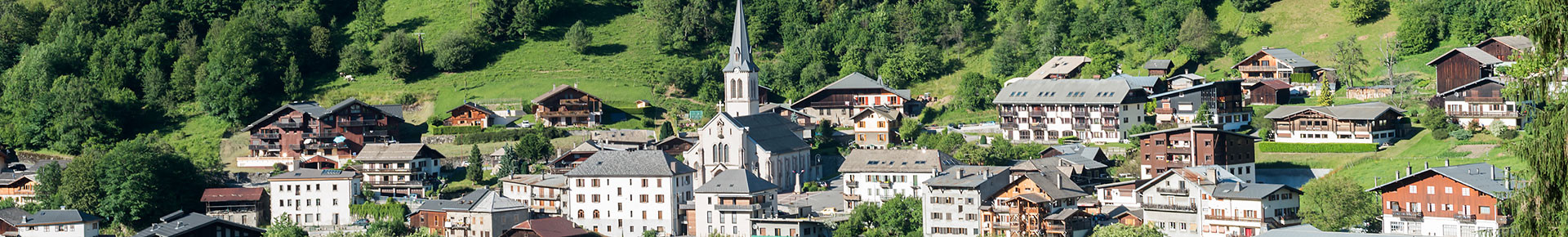 Village de Saint Jean d'Aulps en été