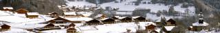 Village de La Vernaz en hiver
