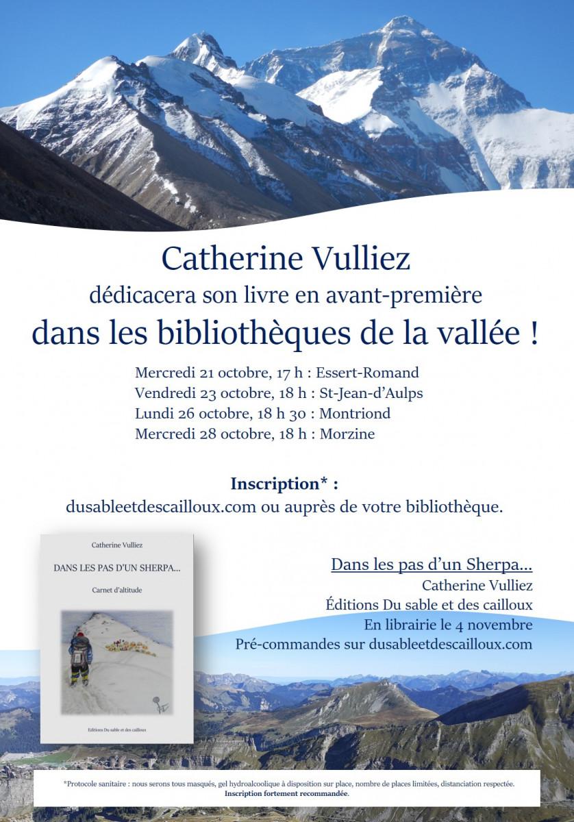 Dédicace avec Catherine Vulliez pour la sortie de son livre