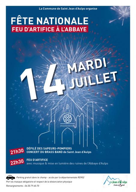 Affiche pour la fête nationale à St Jean d'Aulps