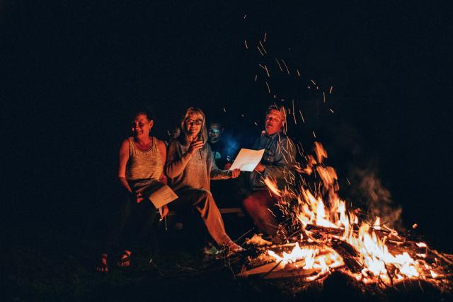 Contes au coin du feu au lac de Montriond .