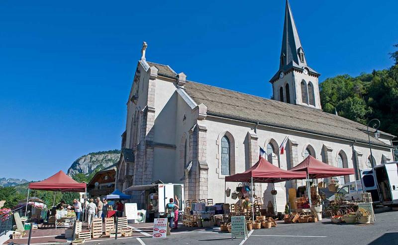 Marché à Saint Jean d'Aulps
